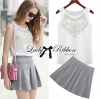 Lady Ribbon's Made Lady Gianni Rock Studded Top and Skirt Pant Set