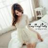 Mini Dress Flora Lace Fashion Korea