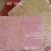 WC5817 การ์ดสีชมพู ขนาด 5.5 x 7.5 นิ้ว แบบ 3พับ (การ์ด+ซองชมพู)