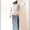 White Lace Blouse Size 44