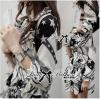 Lady Ribbon's Made Lady Zoe Star Print Cotton Ruffle Dress with Belt