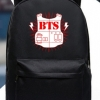 กระเป๋าเป้สะพายหลังสีดำ - BTS