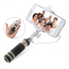 Mini Cable Selfie Monopod ไม้เซลฟี่ ขนาดจิ๋ว สีดำ for Iphone Ipad IOS Android Phone Tablet