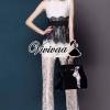 Black&white lace jumpsuit