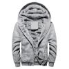 พร้อมส่ง แจ็คเก็ตกันหนาว มีฮูด สีเทา บุขนด้านใน ใส่กันหนาว hoodie jacket