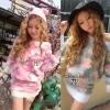 3D Rose Luxury Sweater & Mini Skirt Korean Style