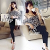 Sevy Two Pieces Of Floraganza Top With Lace Pants Sets