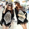 (ส่งฟรี EMS) Best Seller-Restock Sevy Bat Bohemian Large Size Women Chic T-Shirt