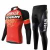 ชุดแขนยาวปั่นจักรยานลายทีม MERIDA กางเกงเป้าเจล 20 D