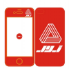 เคสไอโฟน 4/4s JYJ (สีแดง)