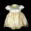 ชุดเด็กเล็กเบบี้วัยหัดเดินใส่ออกงานผ้าไหมแก้วครีมทอง BL529