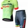 ชุดปั่นจักรยานแขนสั้นลายทีม CANNONDALE S63 กางเกงเป้าเจล
