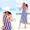 Cliona Made ,Body Shape Stripe Line Maxi Dress