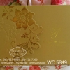 WC5849 การ์ดสีทอง ขนาด 5.5x7.5 นิ้ว แบบ 3พับ (การ์ด+ซองครีม)