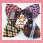 ผ้าพันคอน้องหมา ลายสก๊อต ผ้าคอตตอนญี่ปุ่น