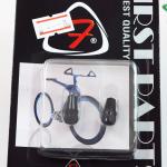 จุ๊บลมจักรยาน หัวเล็ก อลูมิเนียม SV สีดำ