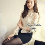 Lady Ribbon's Made Lady Diane Haute Touch Lace Blouse