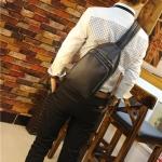 พร้อมส่ง กระเป๋าคาดอก สีดำ มี 2 ช่องซิป ใส่เอกสาร ใส่โทรศัพท์ ipad mini
