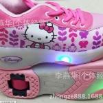 รองเท้าผ้าใบสเก็ต Heely shoes ลาย Kitty - size 34