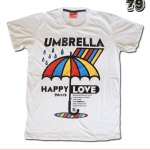 เสื้อยืดชาย Lovebite Size M - Umbrella Happy Love