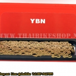 โซ่ YBN / 9 sp. สีทอง / 116L Ti-N Gold SLA 901 TIG for SHIMANO, CAMPAGNOLO AND SRAM