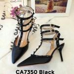 รองเท้า Valentino style ส้นแหลมหนังนิ่มสีล้วน