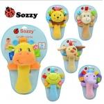 Sozzy ตุ๊กตาเขย่ามือ มี 6 แบบ ได้แก่ น้องหมา กบ ยีราฟ ช้าง ลิง สิงโต