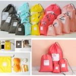 ชุดเซตถุงผ้าอเนกประสงค์ 1 เซต มี 4 ใบ ไว้ใส่สิ่งของต่างๆ จัดระเบียบในกระเป๋าเดินทาง