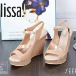 Collection melissa รองเท้าสวย ส้นเตารีด วัสดุซิลิโคนนิ่ม สูง 4 นิ้ว พื้นกันลื้น มีสายรัดข้อ