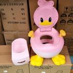 Ducks Baby Toilet Seat สีชมพู