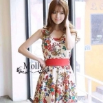 Luxury Lively flower Print Dress