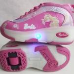 รองเท้าผ้าใบสเก็ต Heely shoes ลาย บาร์บี้ Size 28