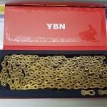 โซ่ YBN / 11 sp. สีทอง / 116L Ti-N Gold SLA 110 TIG for SHIMANO, CAMPAGNOLO AND SRAM