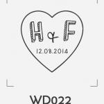 ตราปั๊มงานแต่ง WD022