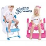 ฝารองชักโครกเด็กแบบมีบันไดปรับสูงต่ำได้ kids seat toilet trainner ส่งฟรี