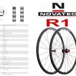 NOVATEC : R1 2016 ชุดล้อคาร์บอนน้ำหนักเบา
