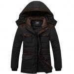 พรีออร์เดอร์ เสื้อโค้ทผู้ชาย สีดำ บุขนด้านใน มีฮู้ด ใส่กันหนาว ใส่ไปเที่ยวต่างประเทศได้