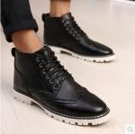รองเท้าแฟชั่นผู้ชาย พรีออร์เดอร์ รองเท้าหนัง สีดำ ผูกเชือก ใส่เที่ยว ใส่ทำงาน