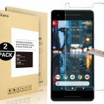 Google Pixel 2 Screen Protector, [ 2 Pack ] [0.3mm, 2.5D] [Bubble-Free] [9H Hardness]