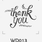 ตราปั๊มงานแต่ง WD013