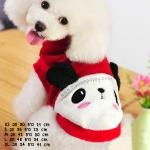 เสื้อกันหนาวสุนัข แพนด้า สีแดง (พร้อมส่ง)