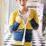 Pre-Order เสื้อคลุมแฟชั่น เสื้อคลุมไหมพรม สีเหลือง คอวี แขนยาว กระดุมแถวเดียว สไตล์เท่ห์ ใส่ทำงาน ใส่เที่ยวได้แบบเท่ห์