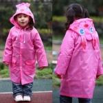 เสื้อกันฝนน่ารักสำหรับเด็กยี่ห้อ Linda ลายกระต่ายชมพู