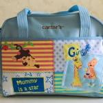 กระเป๋าสัมภาระคุณแม่ carter ใบเดี่ยว สีฟ้า