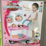รถเข็นขนม สีชมพู