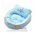 ที่นอนน้องหมา เบาะนอนรูปแมว สีฟ้า ไซส์ L