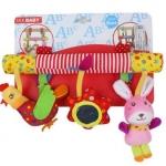 โมบายรถเข็นเด็ก ลายกระต่ายชมพู มีเสียงปี๊บๆ