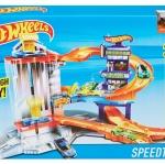รถ Hot Wheels Speedtropolis 3-Level Adventure City Playset ส่งฟรี