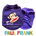 (สินค้าหมดรุ่น) เสื้อกล้ามสุนัข Paul Frank สีม่วง รุ่น 7 สี 7 วัน พร้อมส่ง