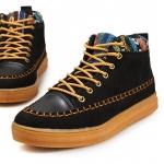 รองเท้าแฟชั่นผู้ชาย พรีออร์เดอร์ รองเท้าผ้าใบ รองเท้าหุ้มข้อ สีดำ ผูกเชือก ใส่เที่ยว ใส่ทำงาน